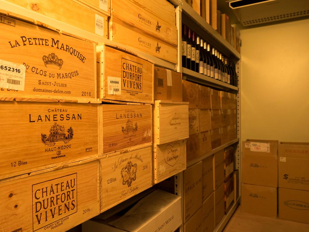 2500本収納可能なワインセラーを2台設置